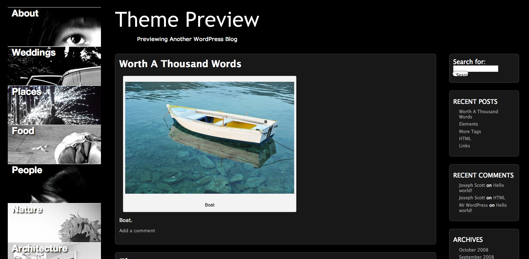 Changing Menu Images for WP Picture Perfect Theme
