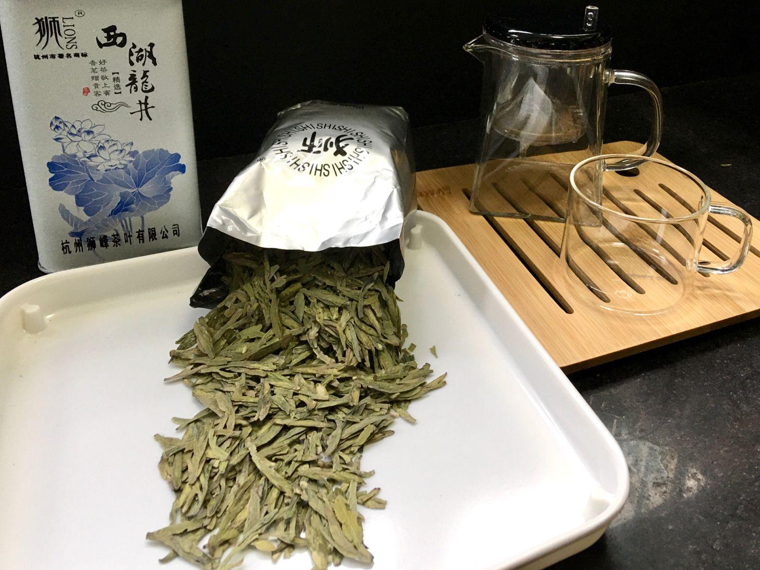 Shī Fēng Lóng Jǐng Lǜ Chá, 狮峰龙井绿茶, Lion Peak Dragon Well Green Tea